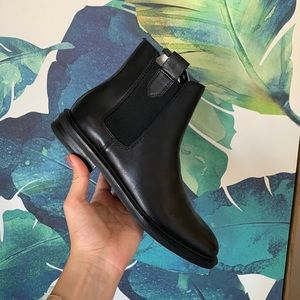 NWT ZARA leather booties size 38
